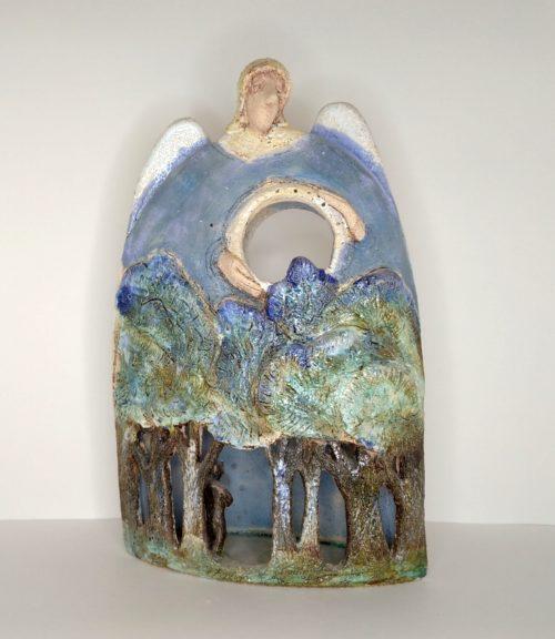 """Статуэтка из керамики """"Человек в лесу"""""""