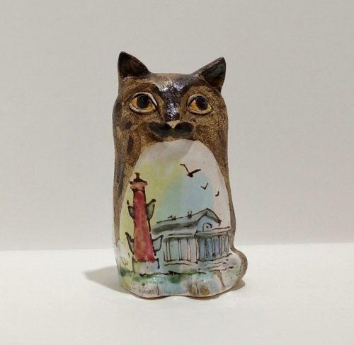"""Небольшая керамическая скульптура """"Кот"""""""