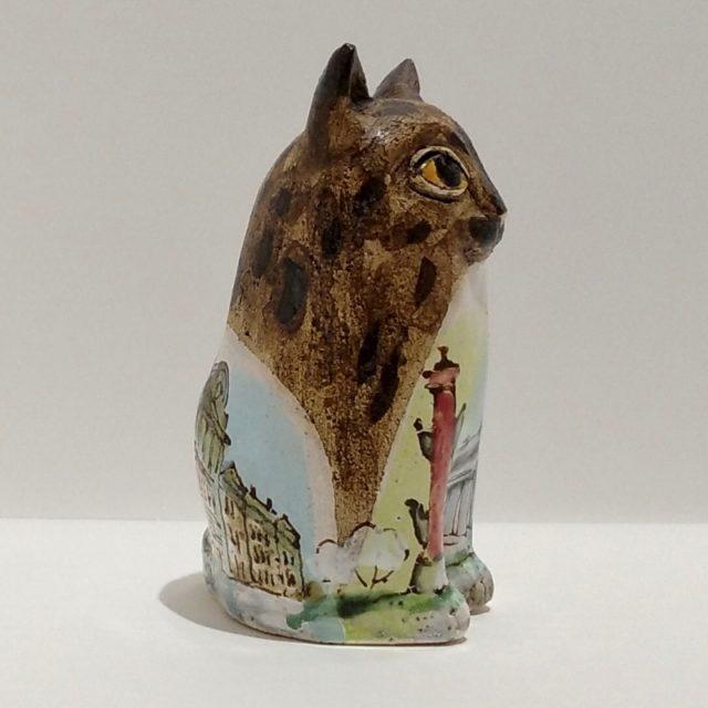 """Небольшая скульптура из керамики """"Кот"""""""